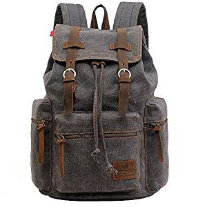 vintage unisex leather backpack